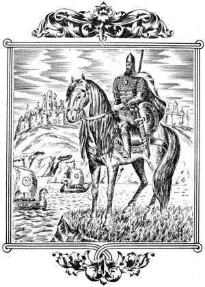 А по степям без устали разъезжали богатыри на могучих конях