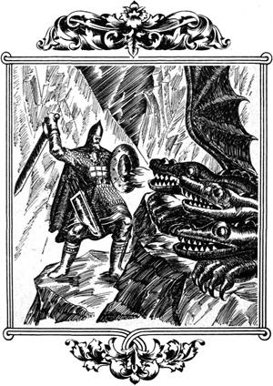 Бьются они три дня и три ночи; стал Змей Добрыню одолевать
