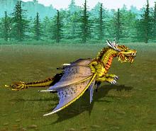 Золотой дракон расправил огромные крылья