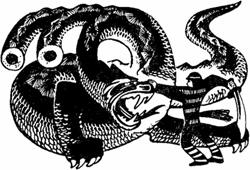 Изловчился Иван и отрубил саблей все три головы Гундыра