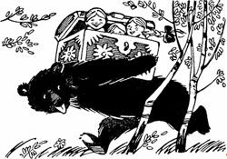 Потащил медведь сундук
