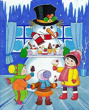 Снеговик стал верным помощником Деда Мороза