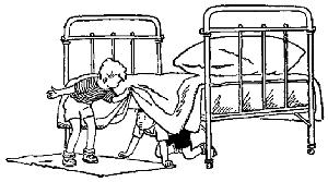 Славик заглянул под кровать и сразу нашёл его.