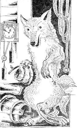 Наелся волк до отвала, хмельного изрядно хлебнул...