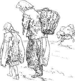 Солнце палит и палит. Бабушка с внучкой идут и идут.