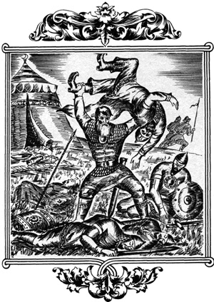 Да как схватит он Калина-царя за ноги кленовые