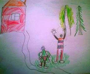 Он решительно направился в сторону Кукушкина болота, а Баба-Яга засеменила рядом