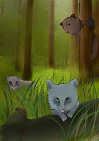 Кабан в землю, медведь на дуб, волк под колодою лежит