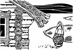 Однажды мачеха послала падчерицу выполоскать пряжу
