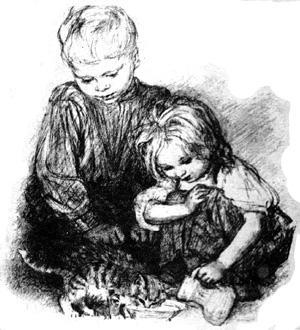 Вася принёс домой котёнка и больше не брал его с собой в поле