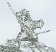 Из танка прямо ему на шею бросилась Джейн-привидение