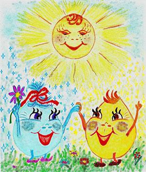 Росинка и Солнечный Зайчик