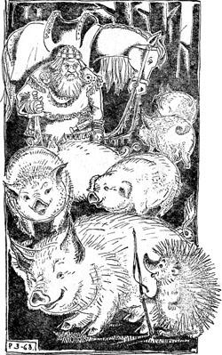 Однажды в том лесу, где ежик свиней пас, охотился сам король
